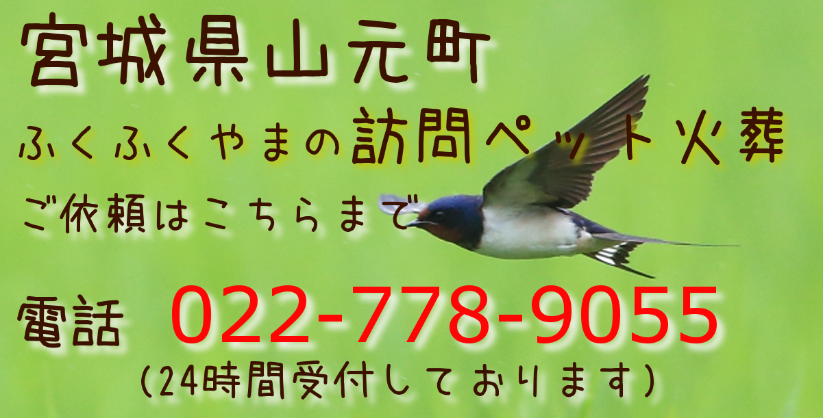 ペット火葬 ペット葬儀 山元町