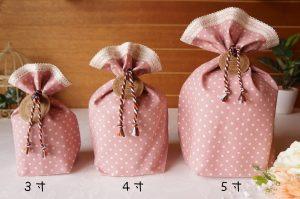 水玉 骨壷カバー ピンク