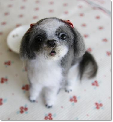 羊毛フェルト人形 シーズー