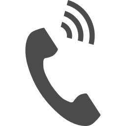 電話の受話器のアイコン素材 その2