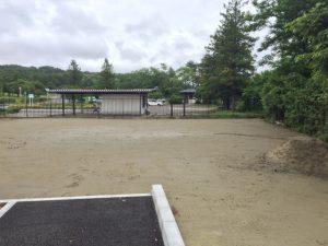 仙台市納骨堂前の埋葬予定地